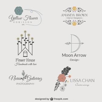 Pack de logotipos florales
