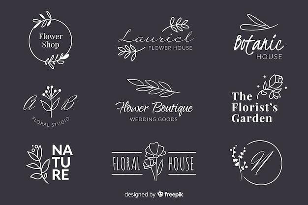Pack de logotipos de floristería para bodas