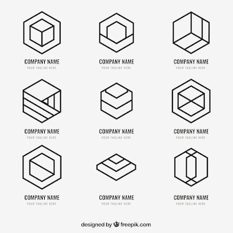 Pack de logotipos simples monoline