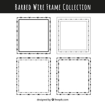 Pack de marcos de alambre de espina cuadrados