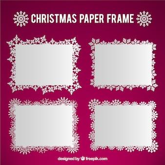 Pack de marcos de papeles de navidad