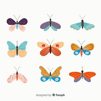 Pack mariposas planas decoradas