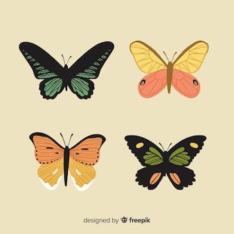 Pack mariposas planas