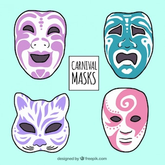 Pack de máscaras dibujadas a mano