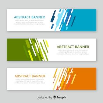 Pack moderno de banners abstractos con diseño plano