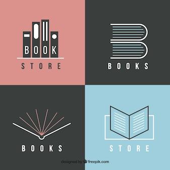 Pack de modernos logos de libros