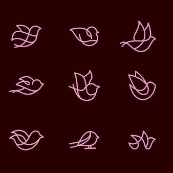 Pack monoline pájaro
