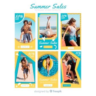 Pack muestras stories instagram rebajas verano