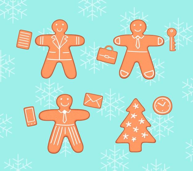 Pack de navidad de galletas de jengibre empresarios