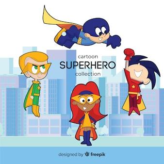 Pack de niños superheroes