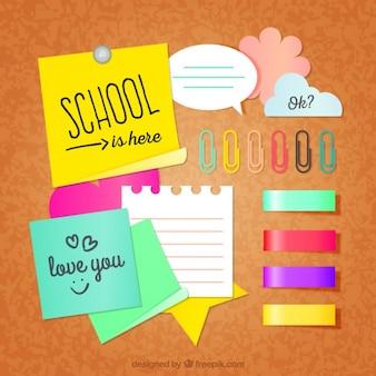 Pack de notas escolares