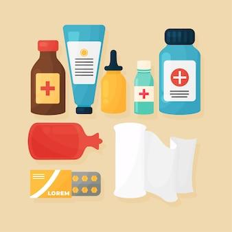 Pack de objetos farmacéutico