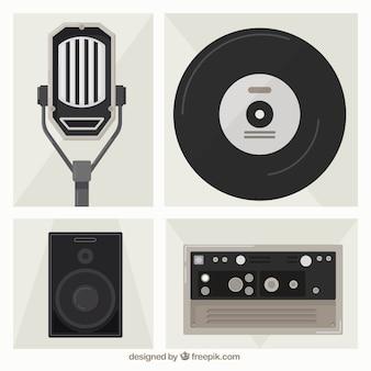 Pack de objetos musicales de estudio