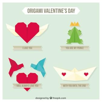 Pack de origami del día de valentín