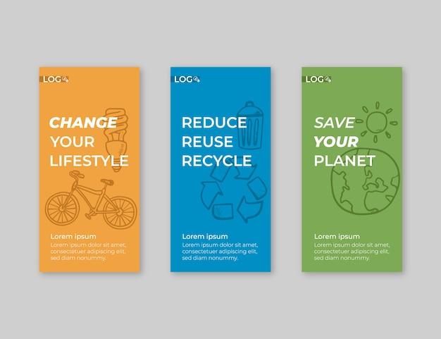 Pack de pancartas para reciclaje