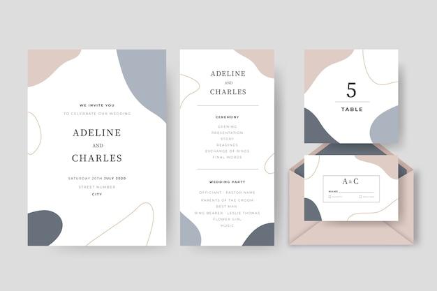 Pack de papelería de boda