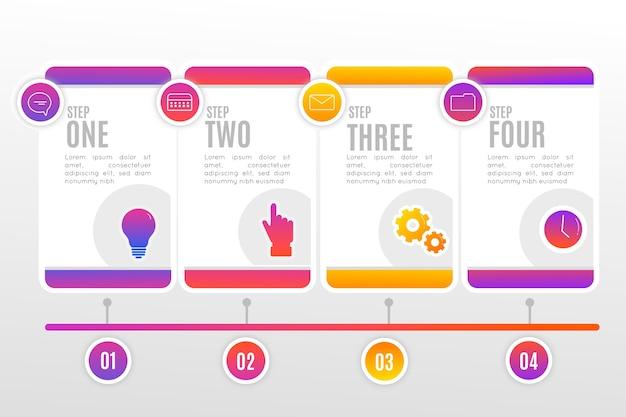 Pack de pasos de infografía