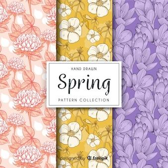 Pack patrón floral primavera