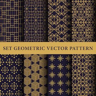 Pack de patrones abstractos de lujo
