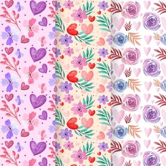Pack de patrones del día de san valentín