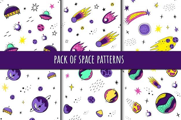 Pack de patrones de espacio.