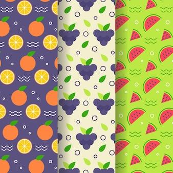 Pack de patrones de frutas