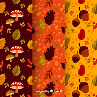 Pack de patrones planos de otoño