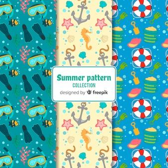 Pack patrones verano dibujados a mano