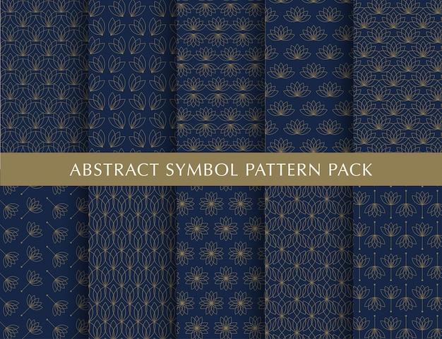 Pack de patrones vintage de lujo
