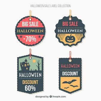 Pack de pegatinas de descuento de halloween