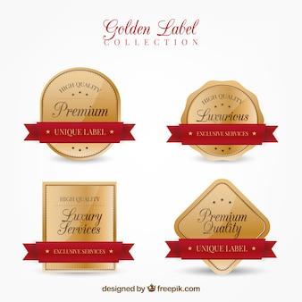Pack de pegatinas doradas retro de calidad