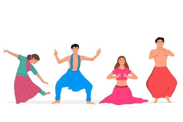 Pack de personas bailando bollywood