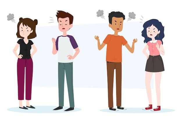 Pack de personas que tienen conflictos de pareja