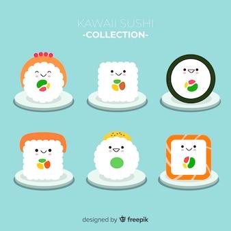 Pack piezas de sushi kawaii