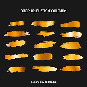 Pack pincelada dorado brillante