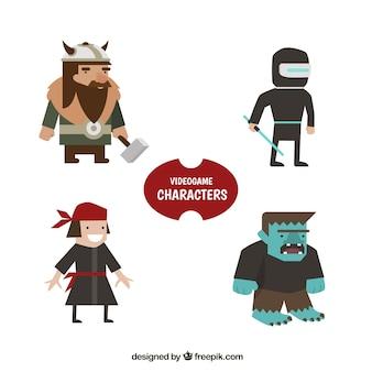 Pack de pirata y otros personajes de videojuego