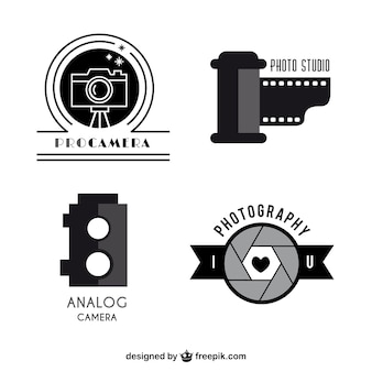Pack de plantillas logo de cámaras