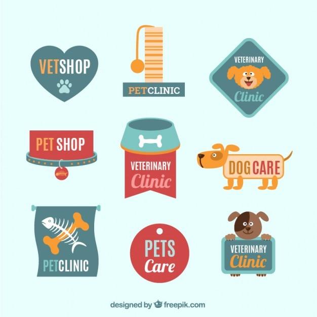 Pack de plantillas de logo de veterinaria