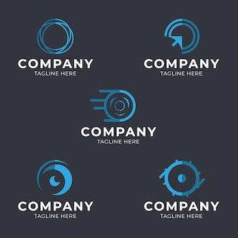 Pack de plantillas de logotipo o diseño plano