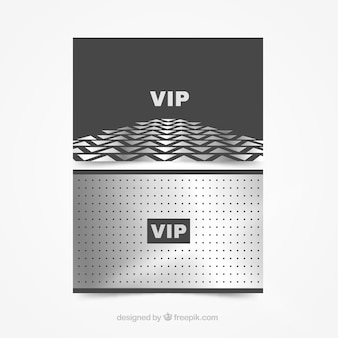 Pack plateado de tarjetas vip