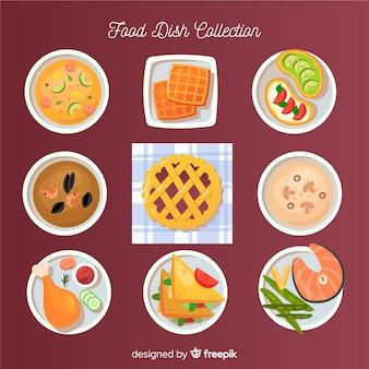 Pack platos de comida dibujos animados