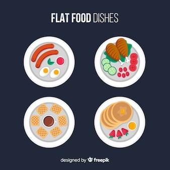 Pack platos de comida planos