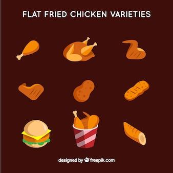 Pack de pollo frito sabroso