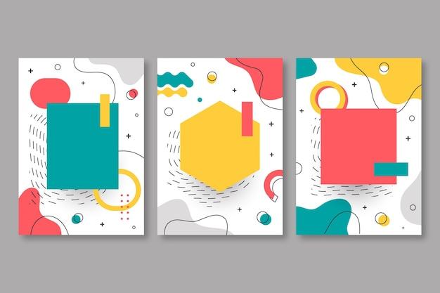 Pack de portadas memphis design