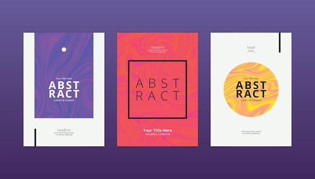 Pack de portadas minimalistas abstractas