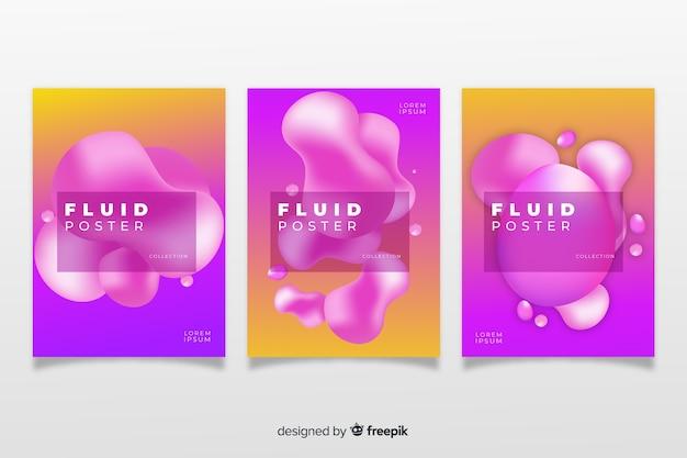 Pack poster formas dinámicas