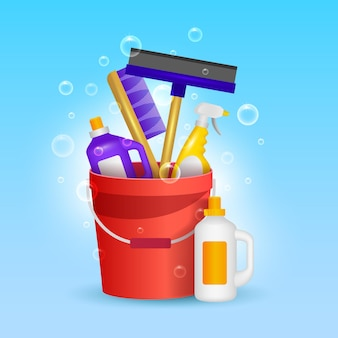 Pack de productos de limpieza