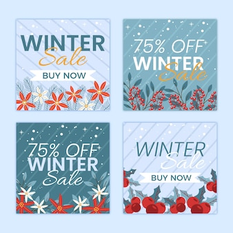 Pack de publicaciones de instagram rebajas de invierno