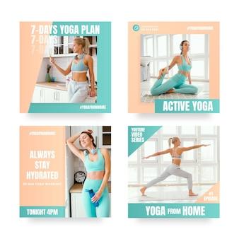 Pack de publicaciones de salud y fitness con foto