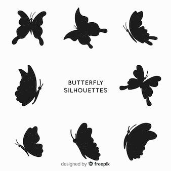 Pack siluetas mariposa